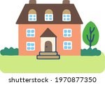 house with lots of windows | Shutterstock .eps vector #1970877350