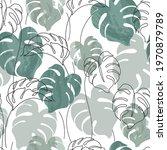 abstract minimal monstera...   Shutterstock .eps vector #1970879789