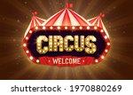 retro circus banner. vector...   Shutterstock .eps vector #1970880269