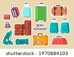 Luggage Stickers Set. Cute...