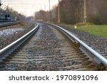 Railroad Rails On Concrete...