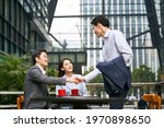 three asian business people... | Shutterstock . vector #1970898650
