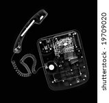 x-ray picture:telephone - stock photo