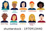 set people portraits with face... | Shutterstock .eps vector #1970913440