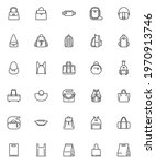 bag and backpack line icons set.... | Shutterstock .eps vector #1970913746