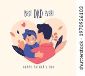 happy father's day. vector... | Shutterstock .eps vector #1970926103