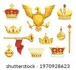 cartoon royal symbols. imperial ... | Shutterstock .eps vector #1970928623