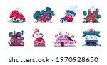 fairy tale houses. fantasy... | Shutterstock .eps vector #1970928650