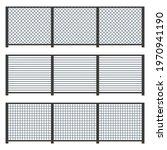 metal fence set on white... | Shutterstock .eps vector #1970941190