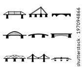 bridges icons set | Shutterstock .eps vector #197094866