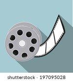 icons  design over blue... | Shutterstock .eps vector #197095028