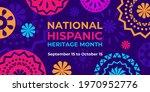 hispanic heritage month. vector ...   Shutterstock .eps vector #1970952776