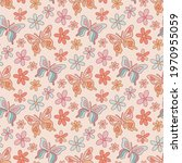 retro seamless pattern with... | Shutterstock .eps vector #1970955059