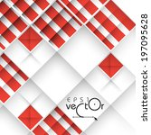 abstract 3d geometrical design. ... | Shutterstock .eps vector #197095628