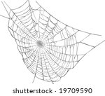 illustration with spider web... | Shutterstock .eps vector #19709590