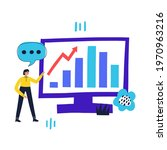 man showing stock growth on... | Shutterstock .eps vector #1970963216
