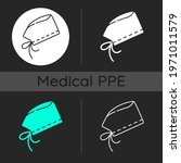 surgical cap dark theme icons...   Shutterstock .eps vector #1971011579
