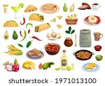 mexican cuisine vector food and ... | Shutterstock .eps vector #1971013100