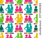 seamless pattern with gay...   Shutterstock .eps vector #1971034283