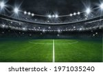 Textured Soccer Game Field With ...