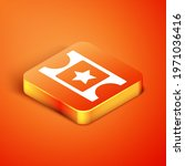 isometric cinema ticket icon...   Shutterstock .eps vector #1971036416