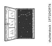 open door to space sketch...   Shutterstock .eps vector #1971043976