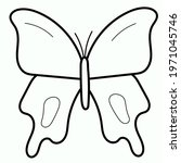 butterfly continuous line... | Shutterstock .eps vector #1971045746