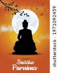 happy vesak day  buddha purnima ...   Shutterstock .eps vector #1971092459