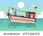 seascape with fishermen on... | Shutterstock .eps vector #1971106223