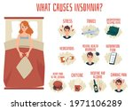 insomnia causes infographic... | Shutterstock .eps vector #1971106289