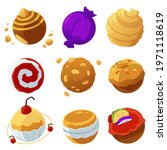 fantasy space collection of... | Shutterstock .eps vector #1971118619