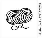 yarn icon  interlocked fibres... | Shutterstock .eps vector #1971120713