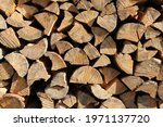 Chopped Firewood Stacked And...