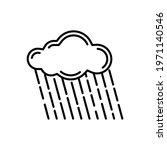 rain cloud line vector... | Shutterstock .eps vector #1971140546