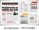 graphical design newspaper... | Shutterstock .eps vector #197115389