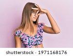 Teenager Caucasian Girl Wearing ...