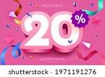 20 percent off. discount... | Shutterstock .eps vector #1971191276