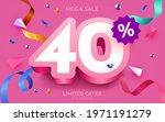 40 percent off. discount... | Shutterstock .eps vector #1971191279