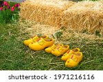 Dutch Wooden Clogs In Front Of...