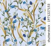 Seamless Pattern With Botanical ...