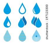 water drops | Shutterstock .eps vector #197123300