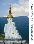 Trippy White Buddha Statue Art