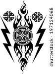 vikings tattoo | Shutterstock .eps vector #197124068