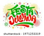 festa junina brazil festival.... | Shutterstock .eps vector #1971253319