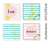 gold foil template. handdrawn... | Shutterstock .eps vector #1971255116