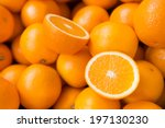 Closeup Of Sliced Oranges On A...