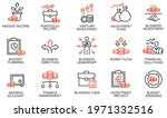 vector set of linear icons...   Shutterstock .eps vector #1971332516