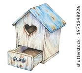 Empty Wooden Old Birdhouse With ...