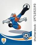eagle mascot soccer player... | Shutterstock .eps vector #1971352193