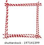a rectangular outline made of... | Shutterstock . vector #197141399